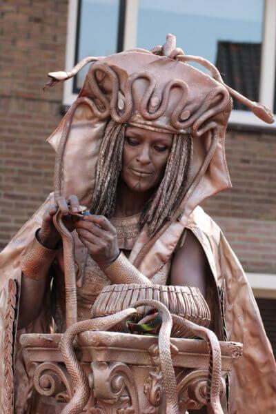 Living statue Medusa