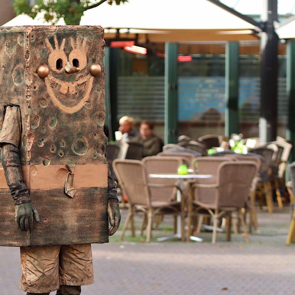 Levend standbeeld Spongebob Squarepants