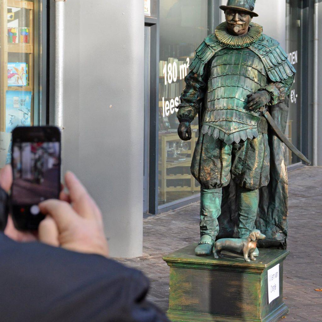 living statue Willem van Oranje