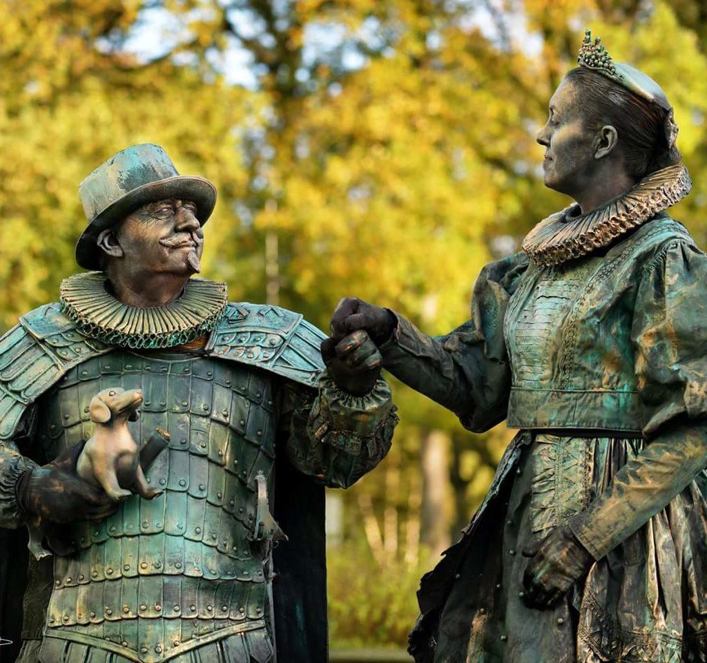 Levend standbeeld Willem van Oranje en Anna van Egmond