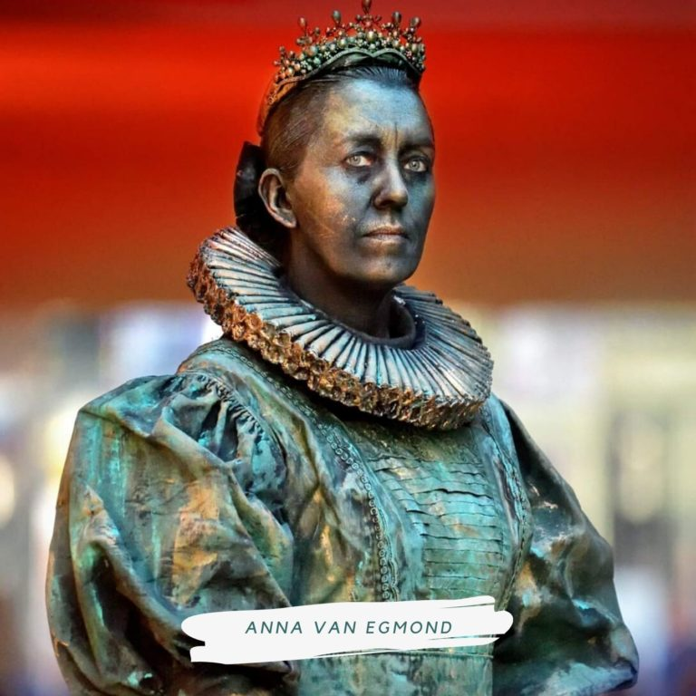 levend standbeeld anna van egmond