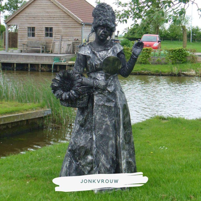 living statue jonkvrouw