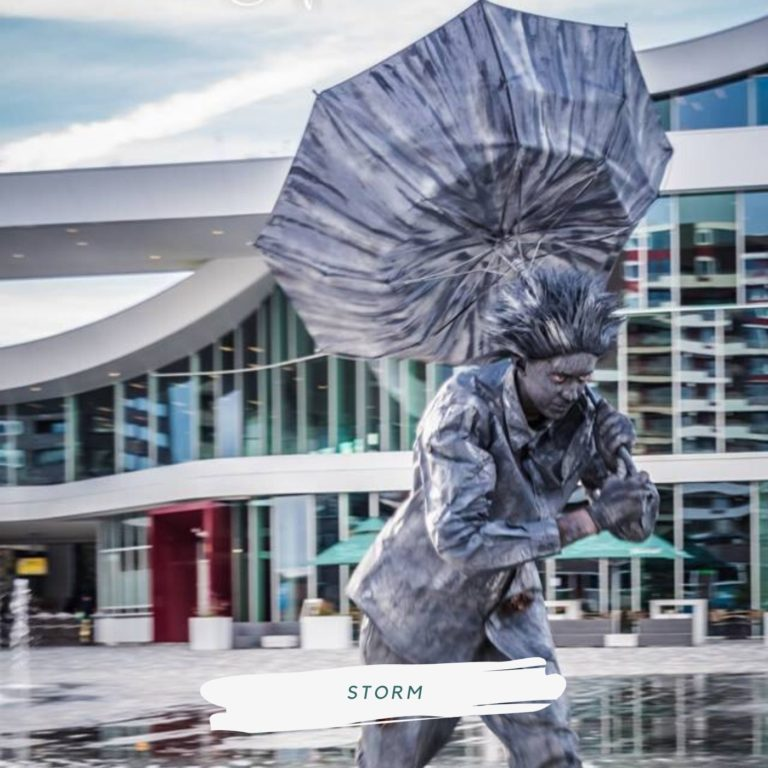 living statue storm
